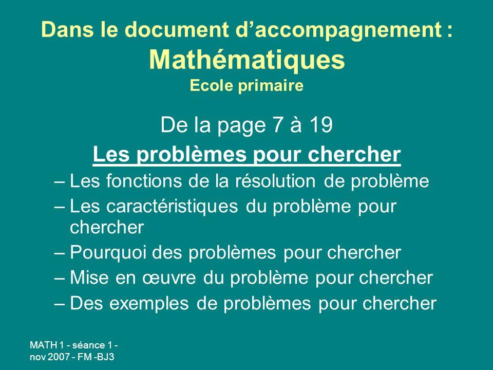 Dans le document d'accompagnement : Mathématiques Ecole primaire