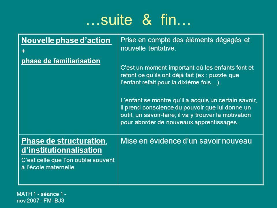 …suite & fin… Nouvelle phase d'action
