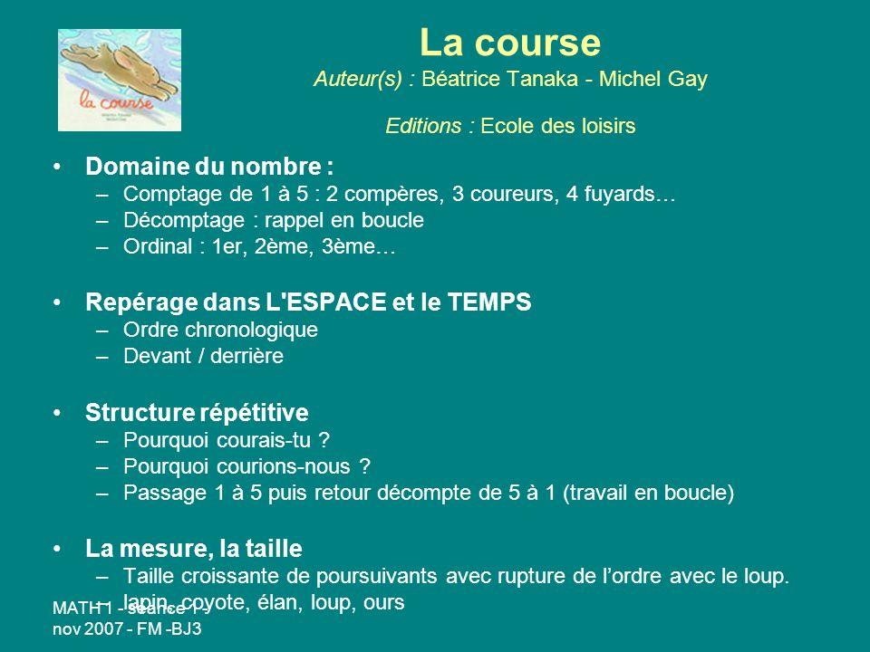 La course Auteur(s) : Béatrice Tanaka - Michel Gay Editions : Ecole des loisirs