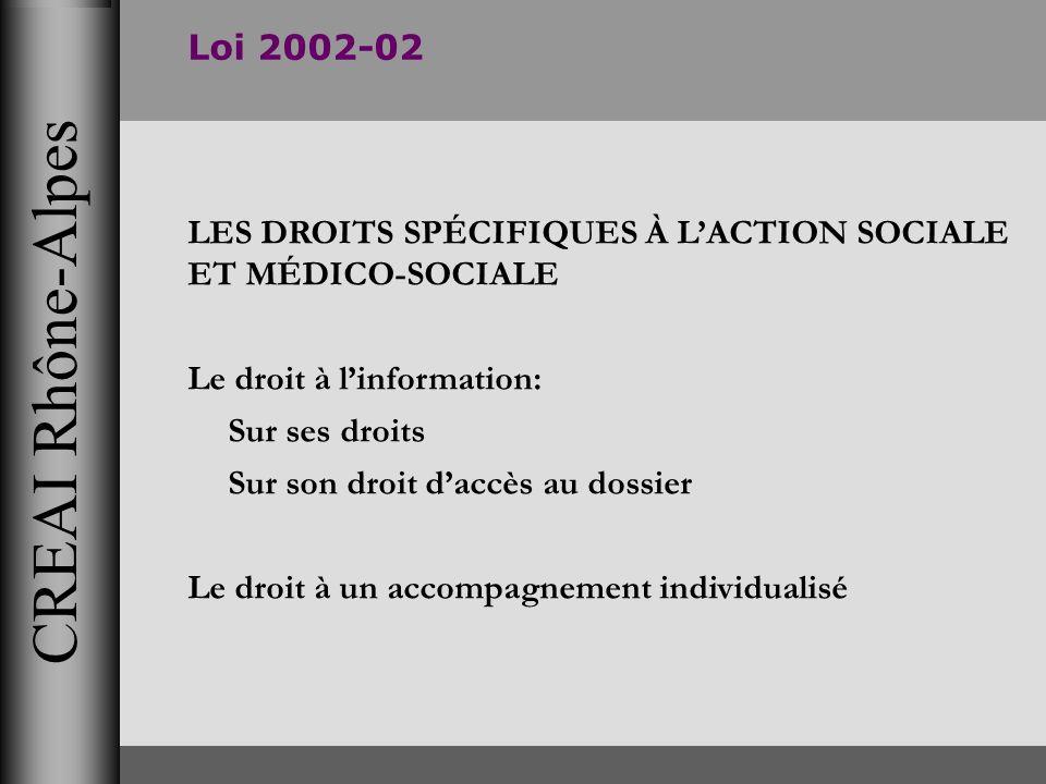 CREAI Rhône-Alpes Loi 2002-02