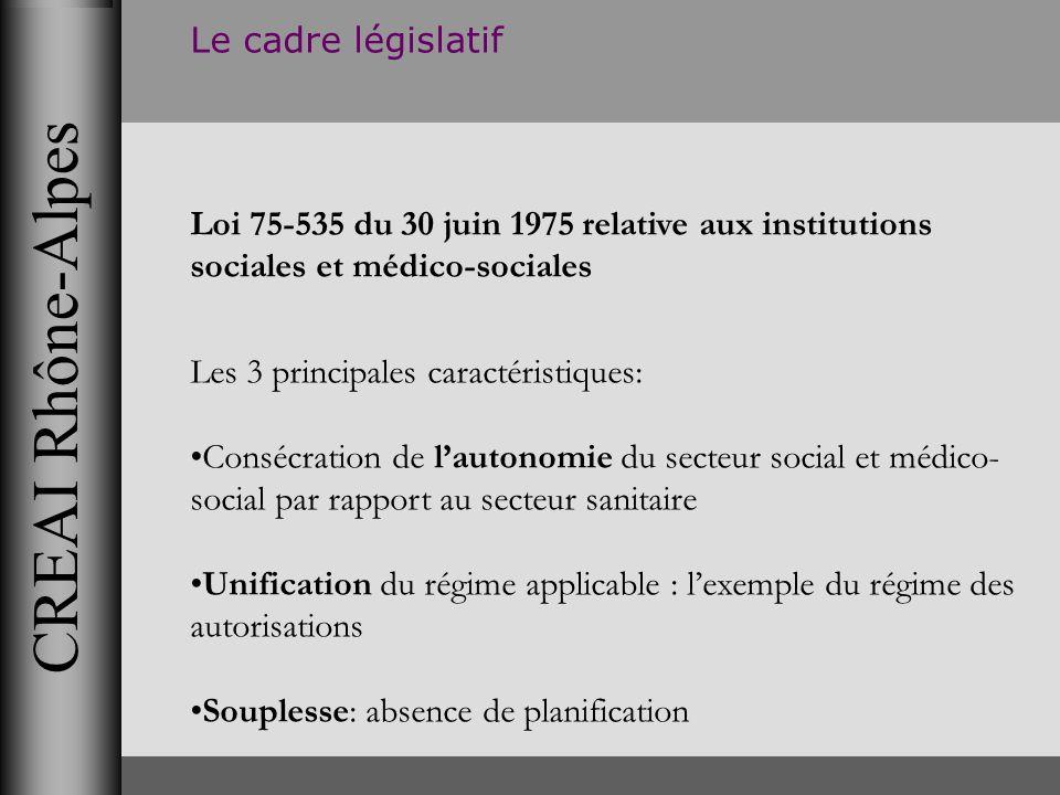 CREAI Rhône-Alpes Le cadre législatif