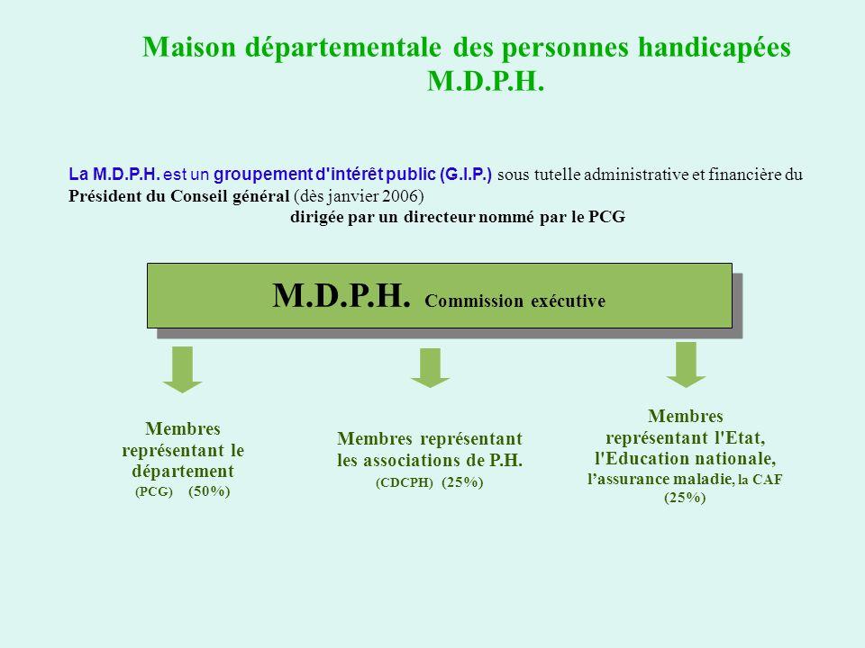 M.D.P.H. Commission exécutive