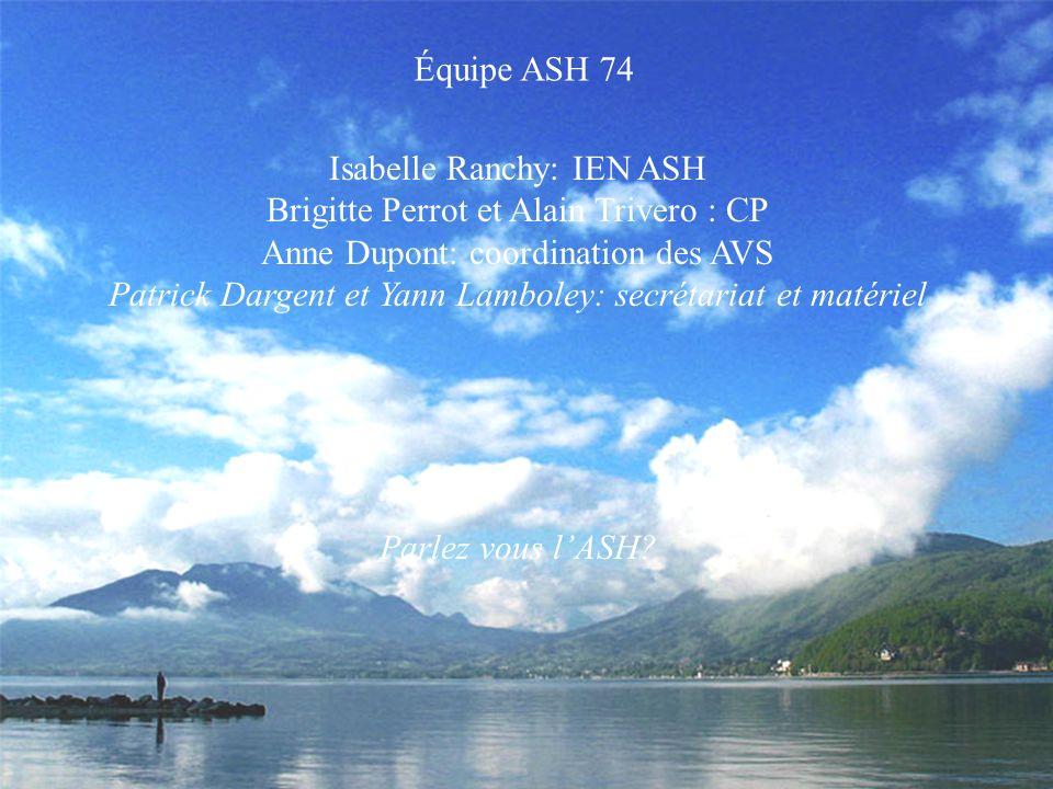 Isabelle Ranchy: IEN ASH Brigitte Perrot et Alain Trivero : CP