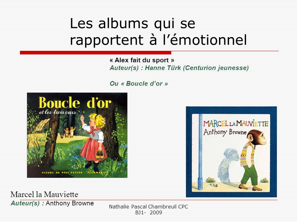 Les albums qui se rapportent à l'émotionnel