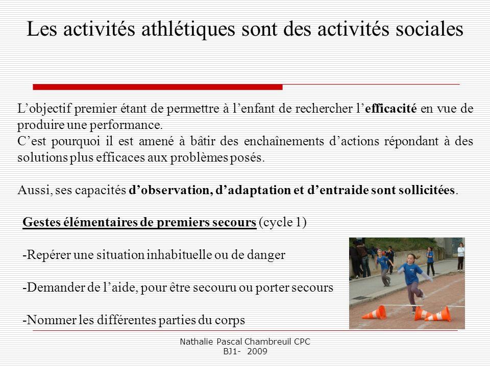 Les activités athlétiques sont des activités sociales