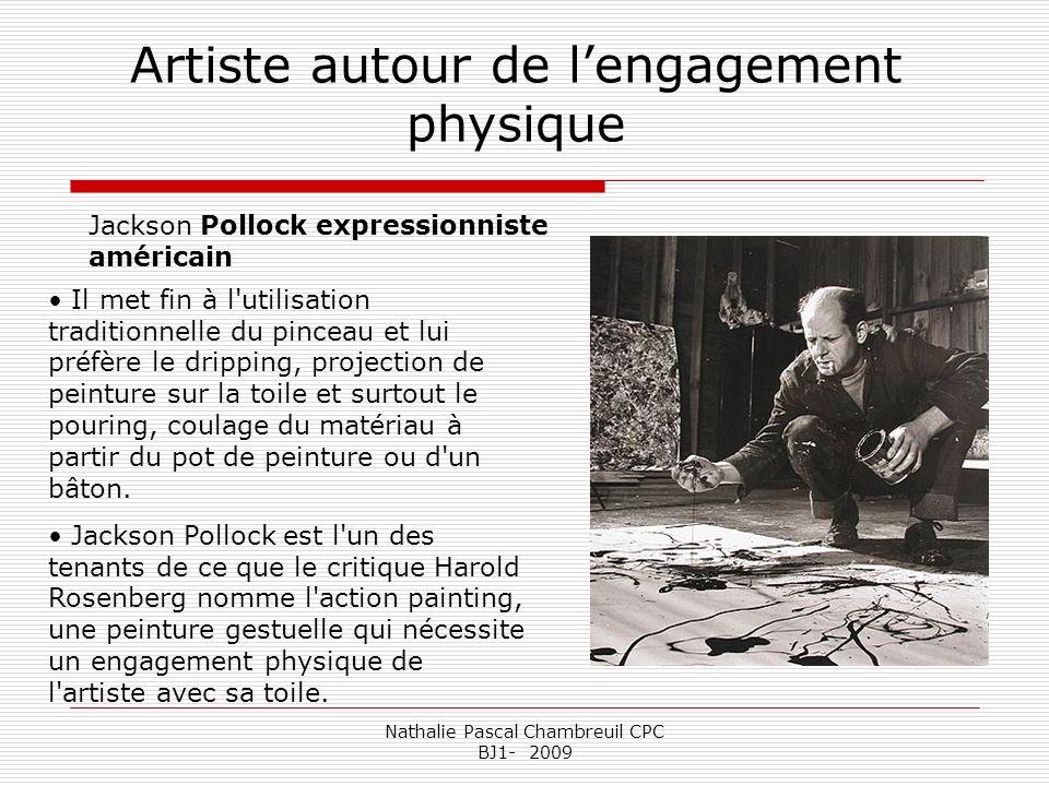Artiste autour de l'engagement physique