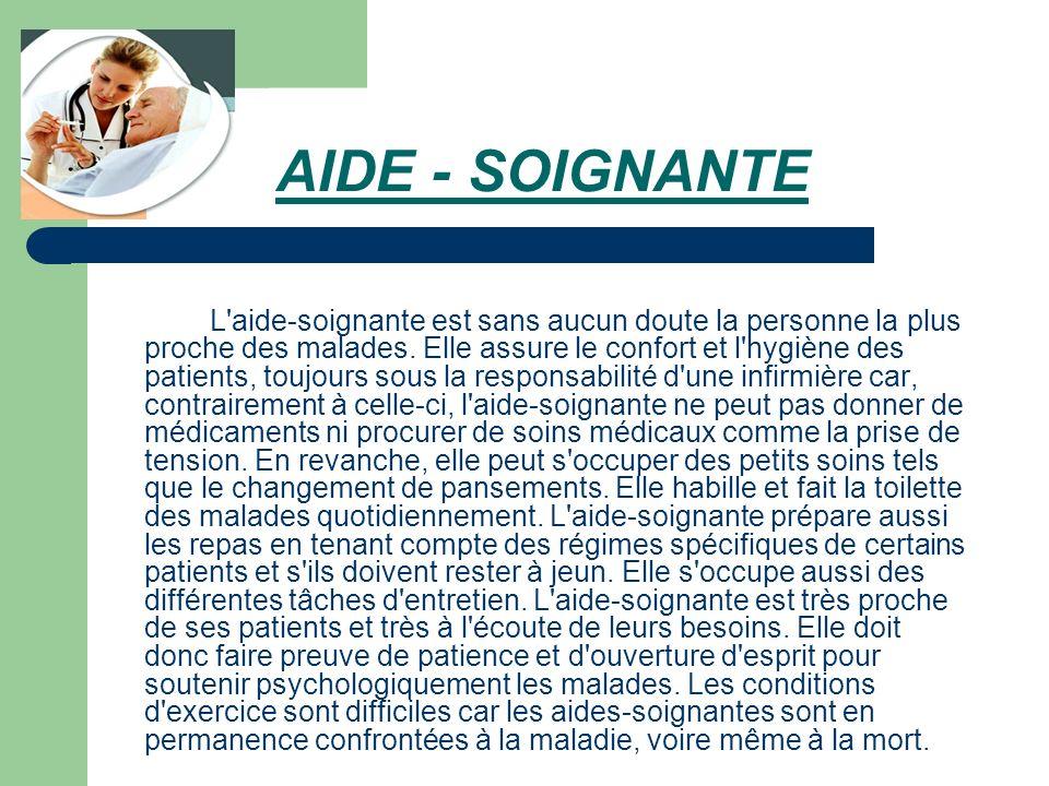 AIDE - SOIGNANTE