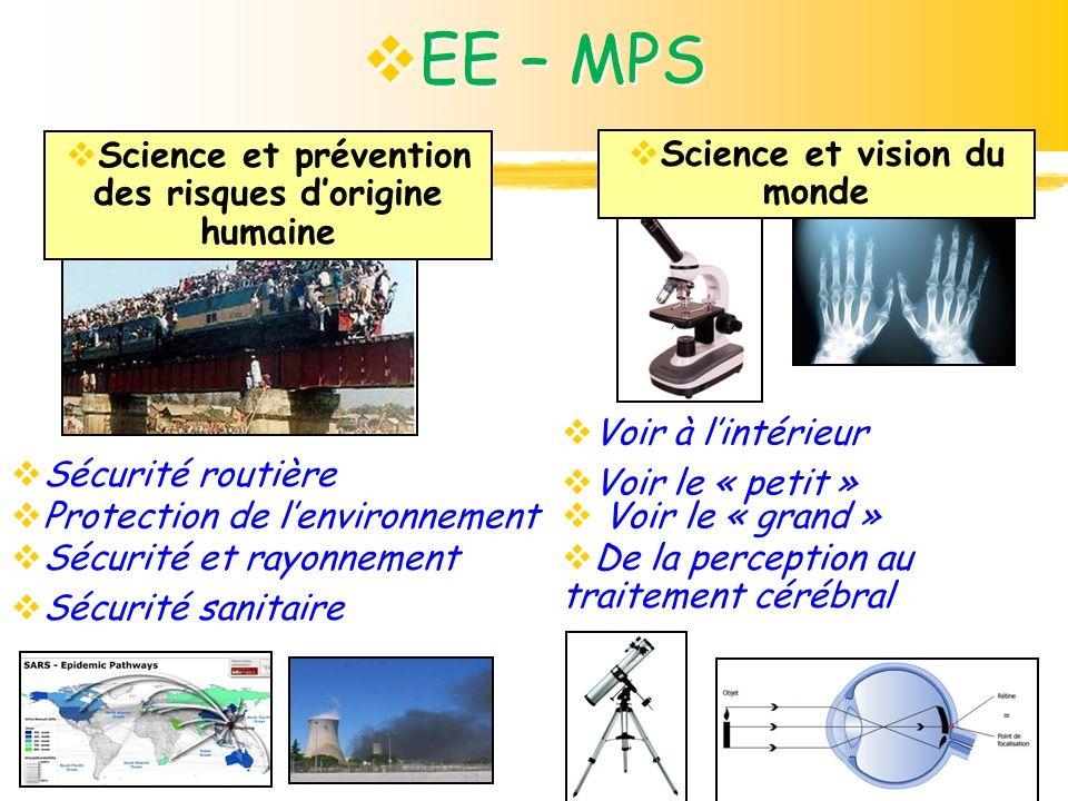 EE – MPS Protection de l'environnement Sécurité sanitaire