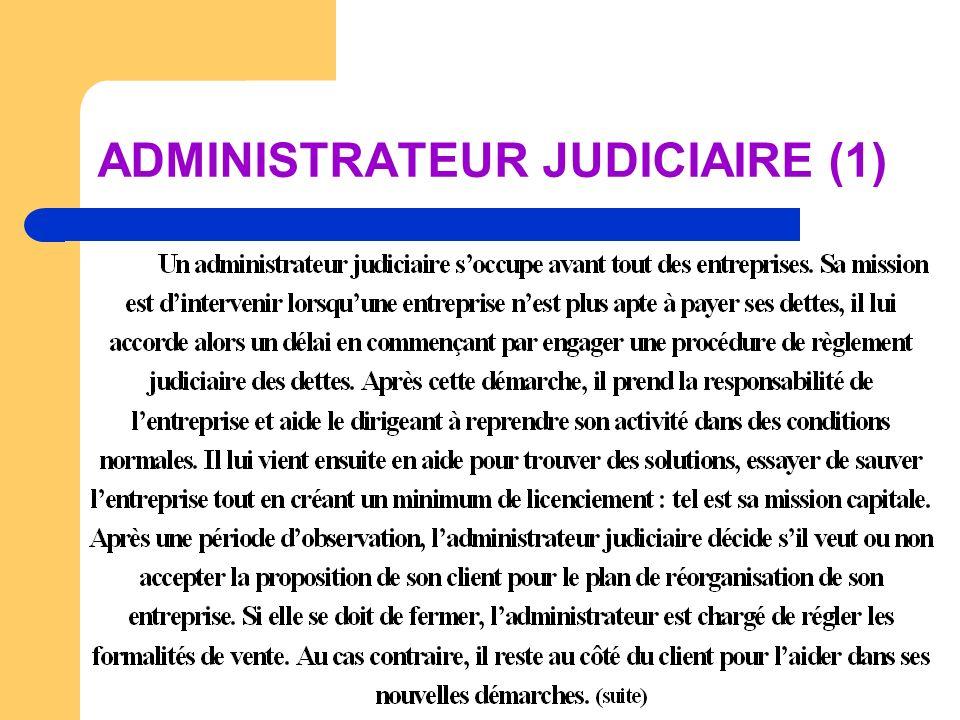 ADMINISTRATEUR JUDICIAIRE (1)