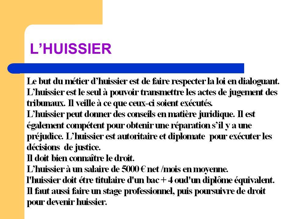 L'HUISSIER