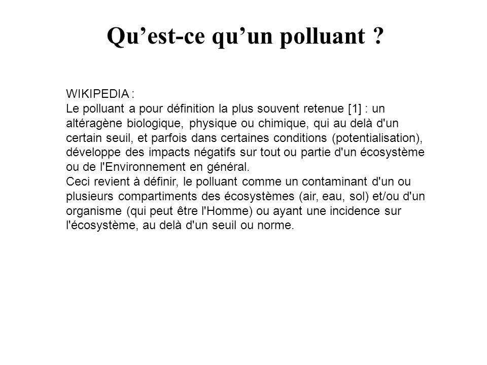 Qu'est-ce qu'un polluant