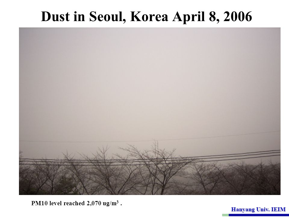 Dust in Seoul, Korea April 8, 2006
