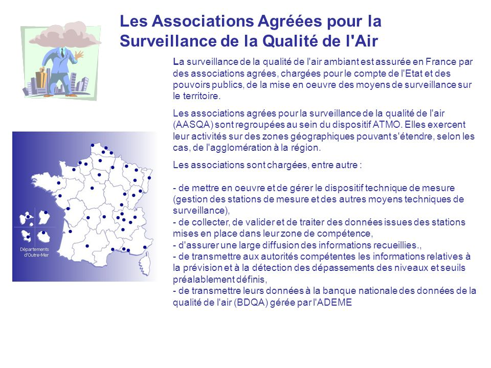 Les Associations Agréées pour la Surveillance de la Qualité de l Air