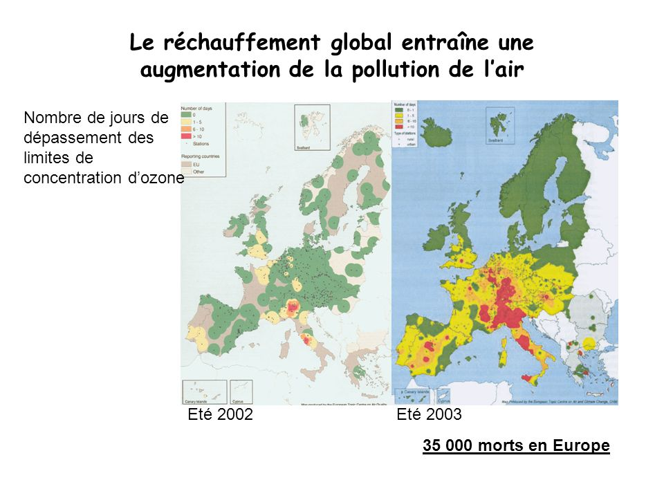 Le réchauffement global entraîne une augmentation de la pollution de l'air