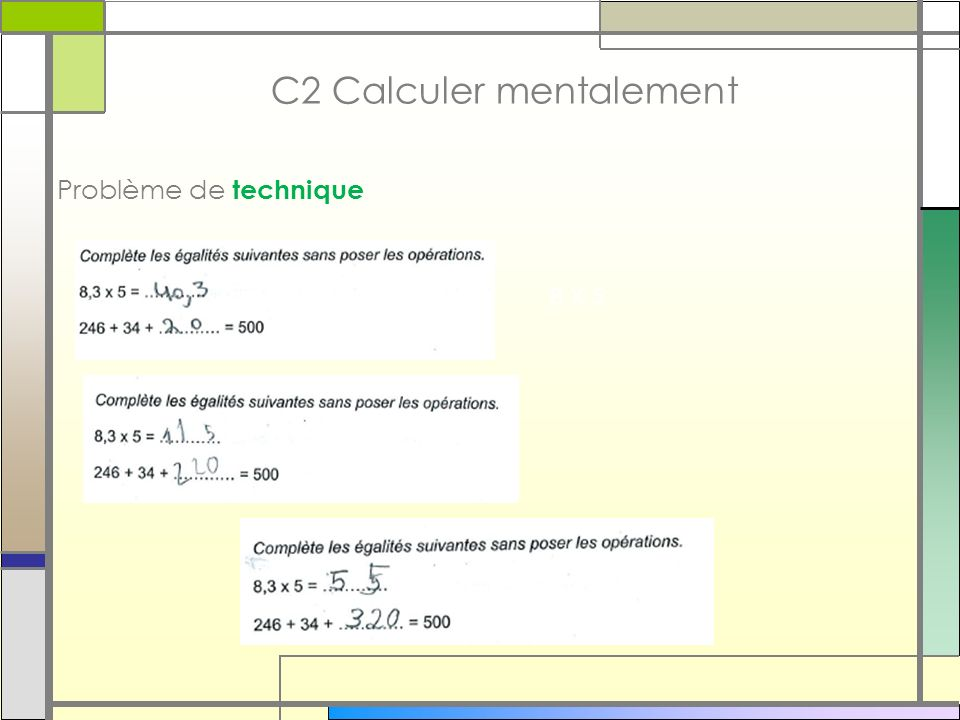 C2 Calculer mentalement