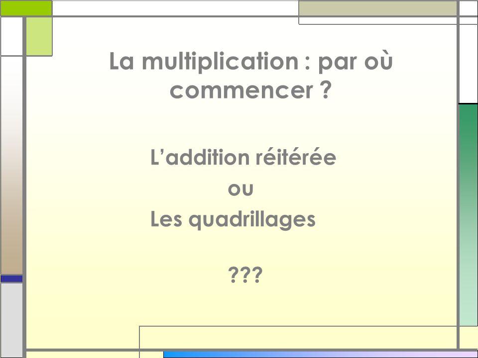 La multiplication : par où commencer