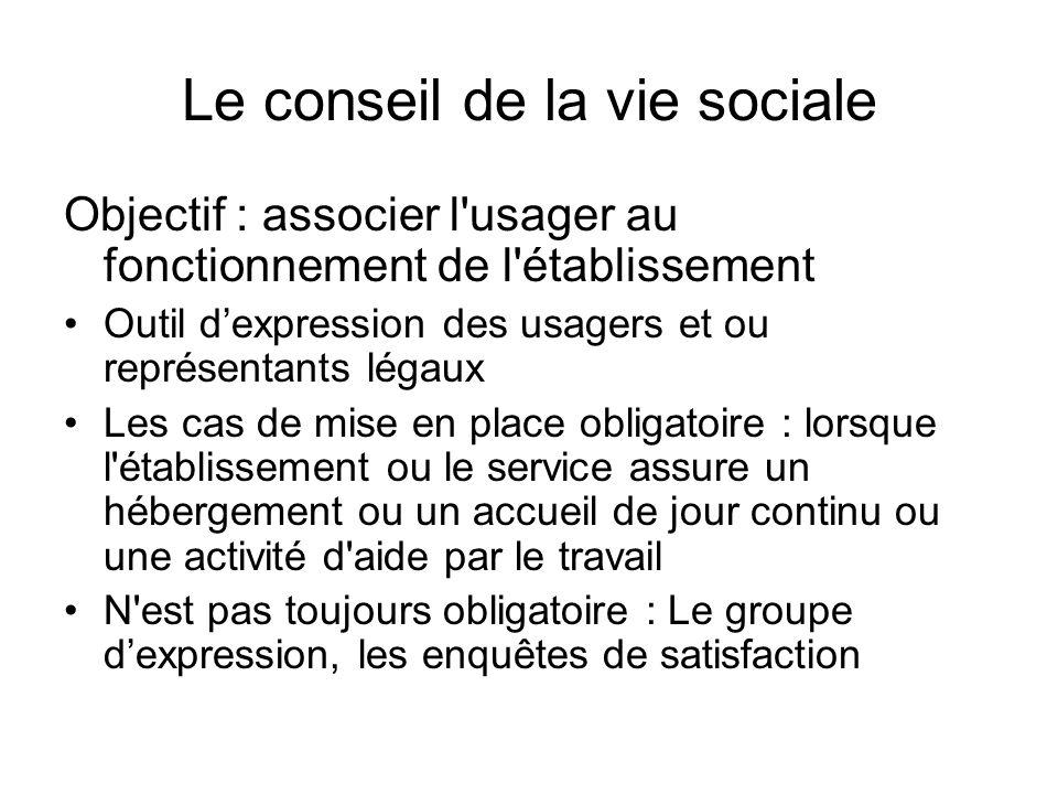 Le conseil de la vie sociale