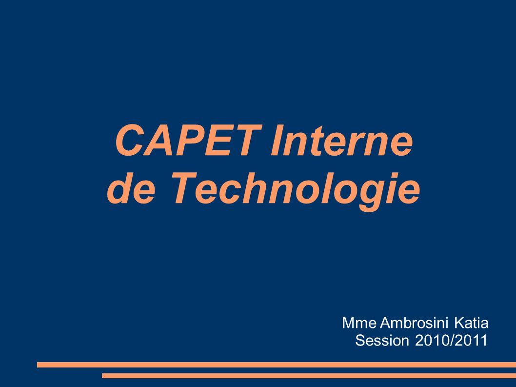 CAPET Interne de Technologie