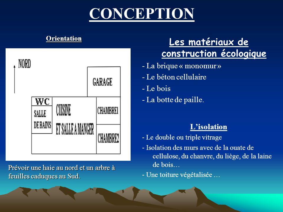 Les matériaux de construction écologique