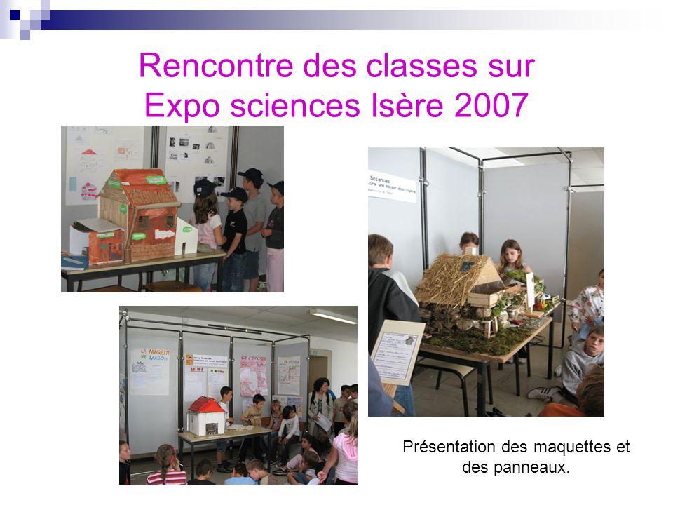 Rencontre des classes sur Expo sciences Isère 2007