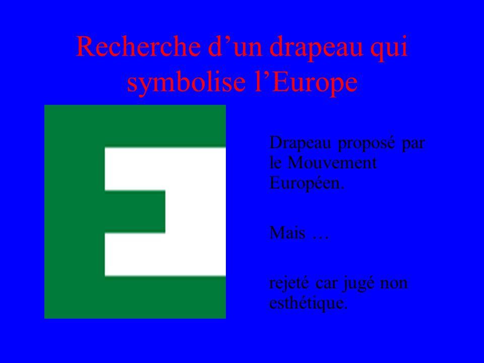Recherche d'un drapeau qui symbolise l'Europe