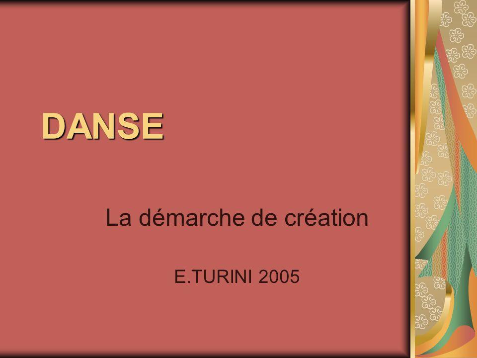 La démarche de création E.TURINI 2005
