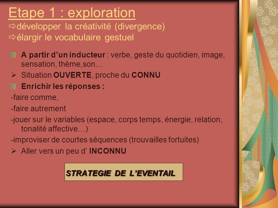 STRATEGIE DE L'EVENTAIL
