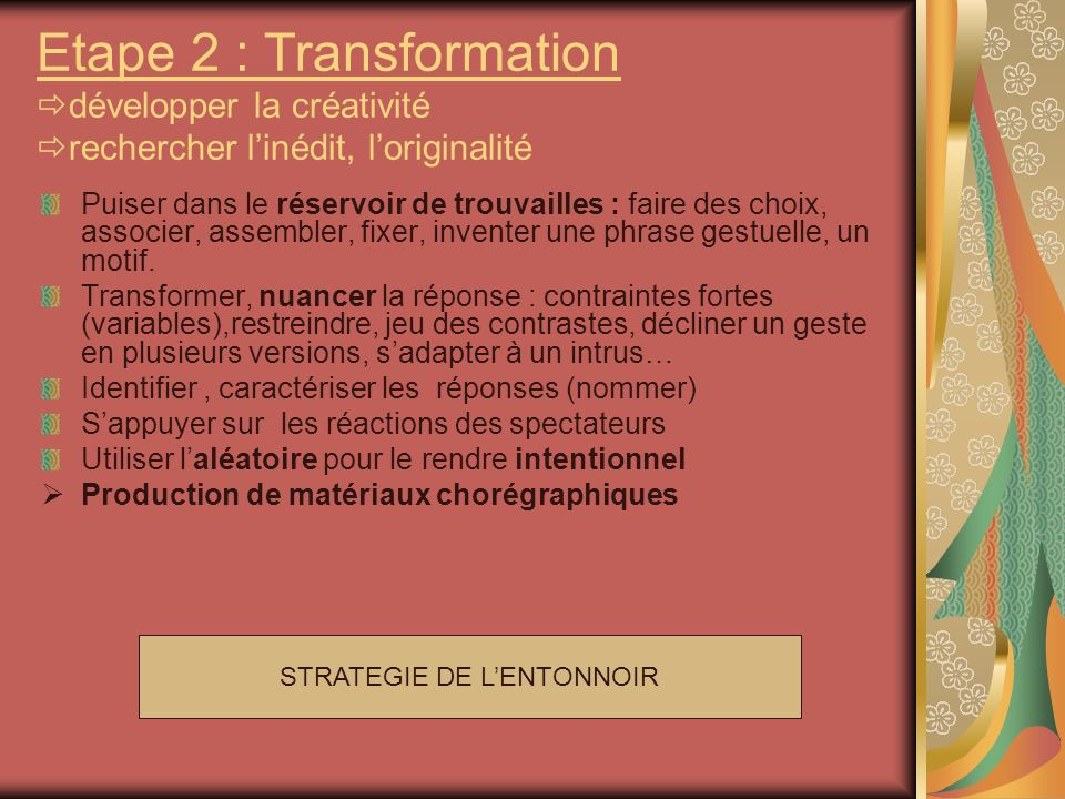 STRATEGIE DE L'ENTONNOIR