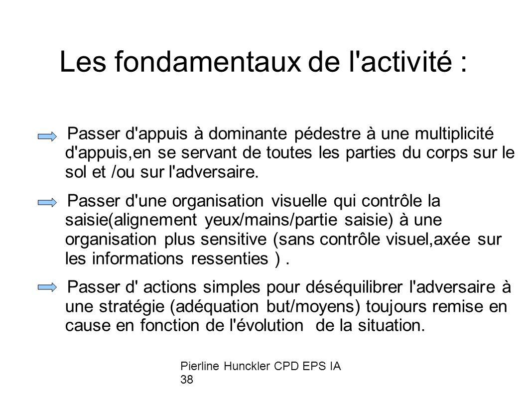 Les fondamentaux de l activité :