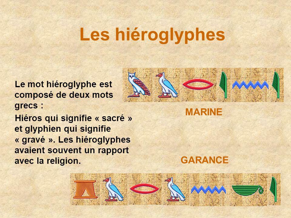Les hiéroglyphes MARINE GARANCE