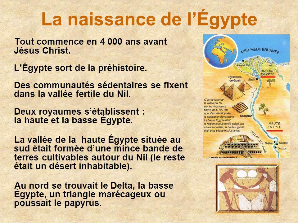 La naissance de l'Égypte