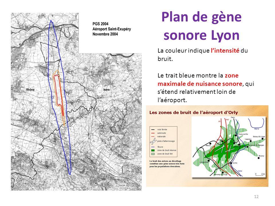 Plan de gène sonore Lyon