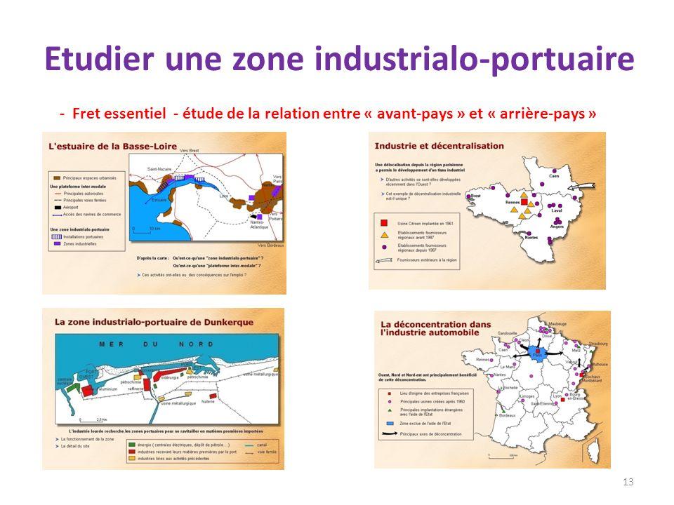 Etudier une zone industrialo-portuaire