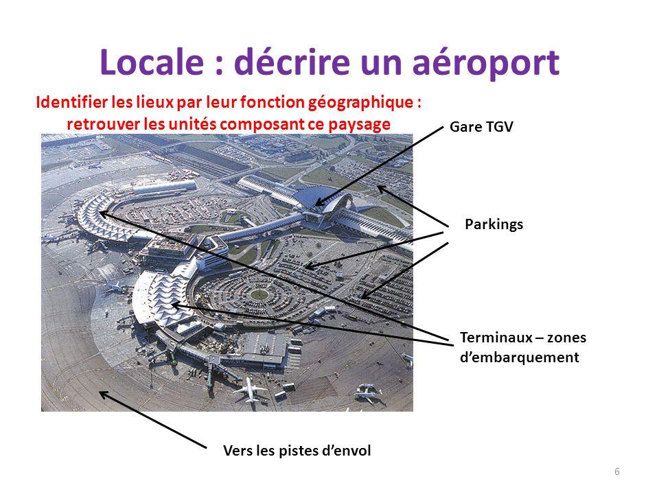 Locale : décrire un aéroport