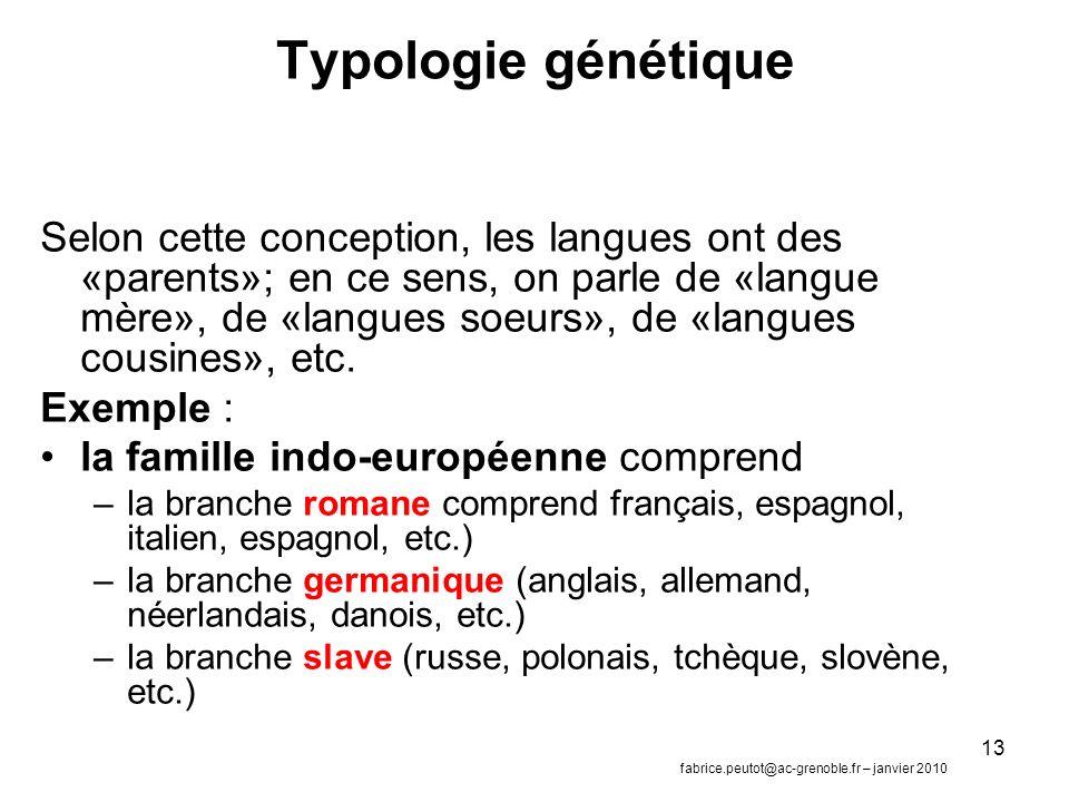 Typologie génétique