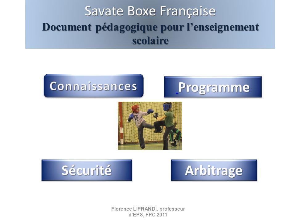 Savate Boxe Française Sécurité Arbitrage Connaissances