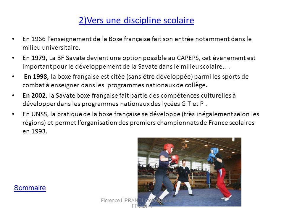 2)Vers une discipline scolaire