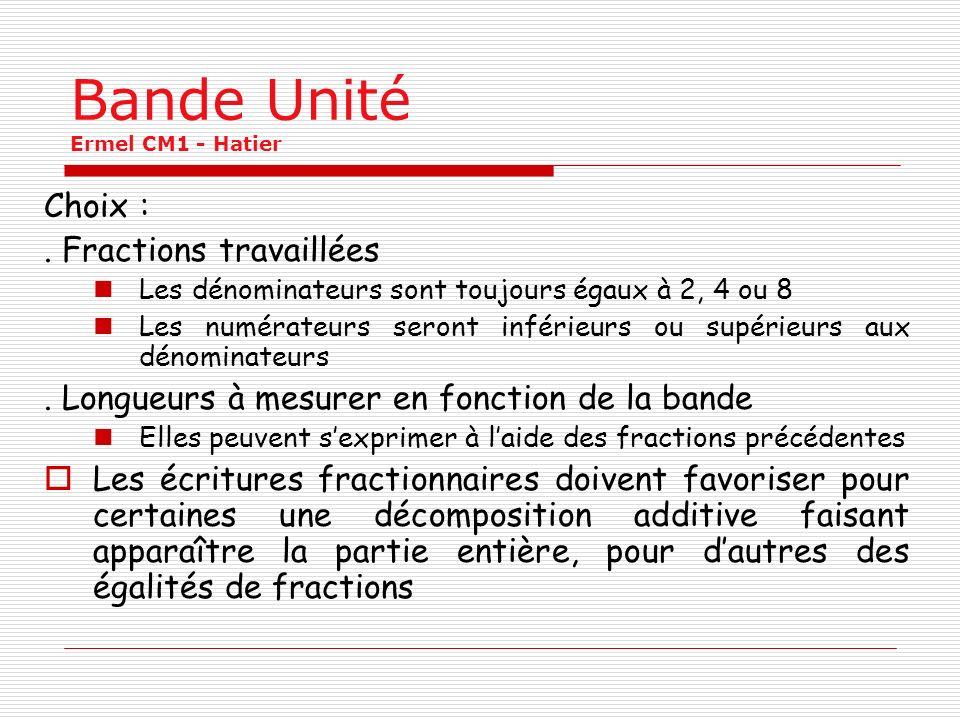 Bande Unité Ermel CM1 - Hatier