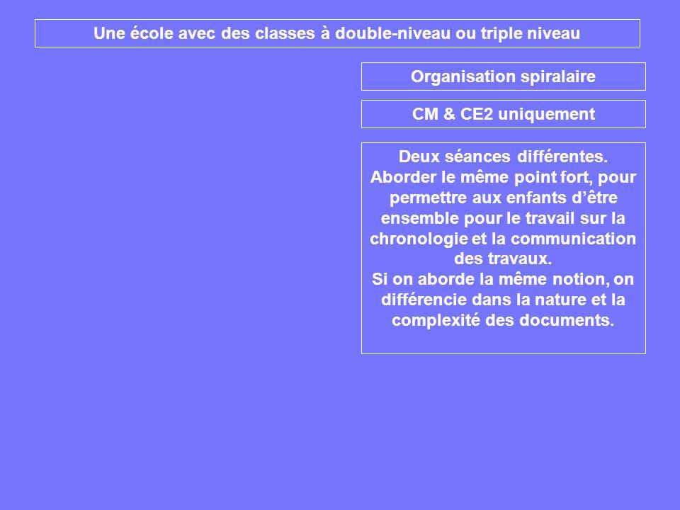 Une école avec des classes à double-niveau ou triple niveau