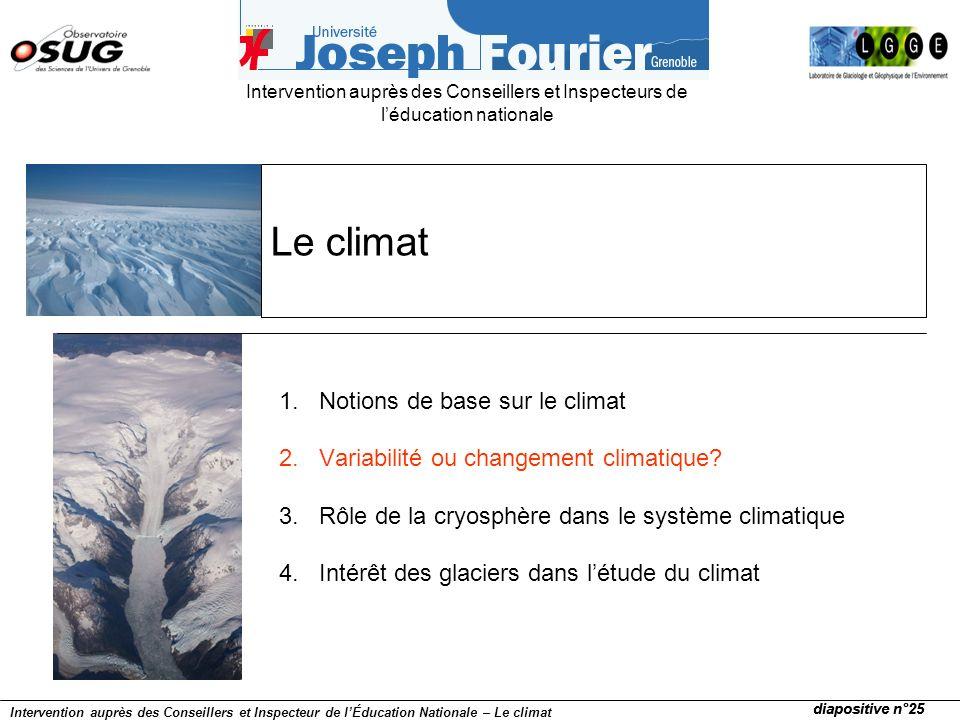 Le climat Notions de base sur le climat