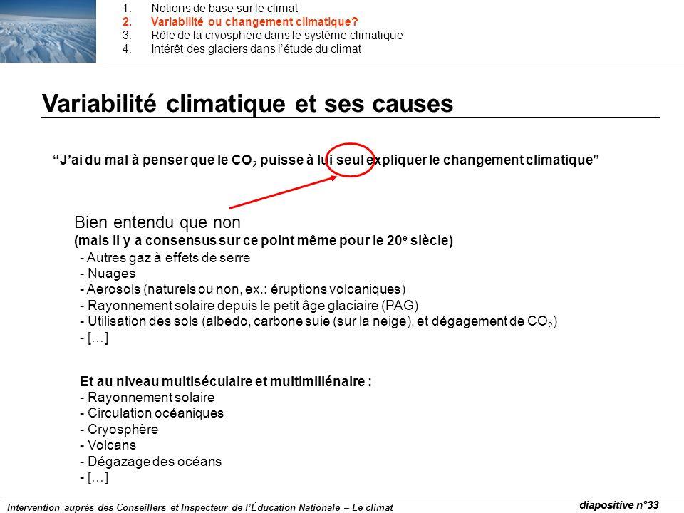 Variabilité climatique et ses causes