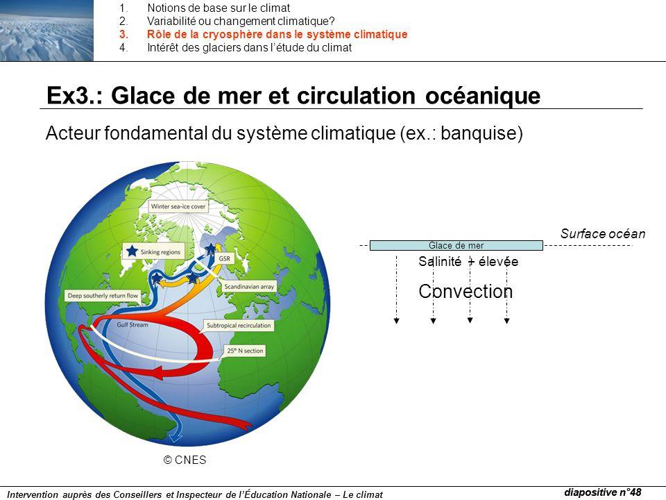 Ex3.: Glace de mer et circulation océanique