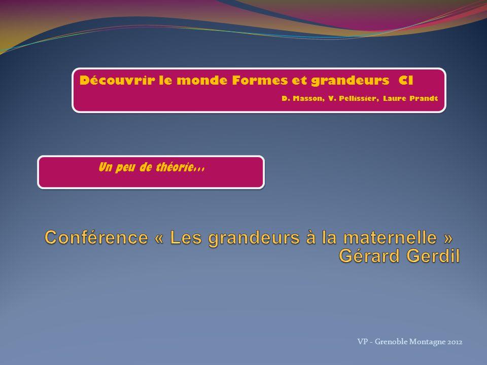 Conférence « Les grandeurs à la maternelle »