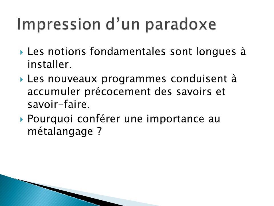 Impression d'un paradoxe