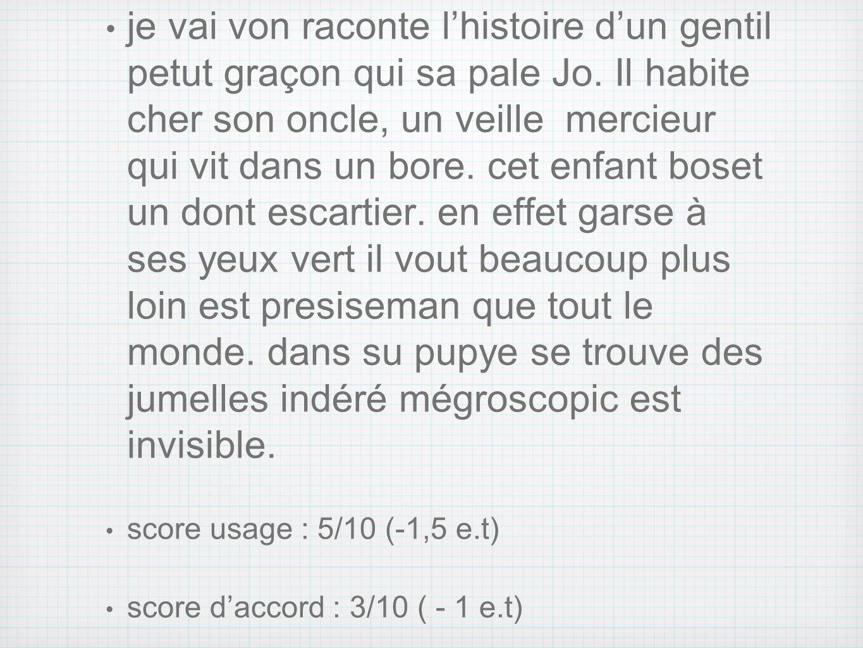 dictée du ROC :