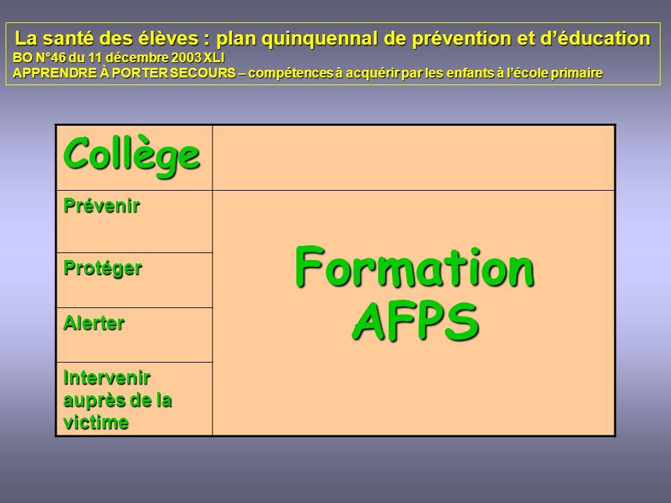 La santé des élèves : plan quinquennal de prévention et d'éducation