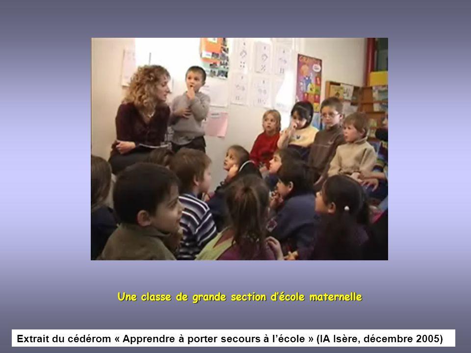Une classe de grande section d'école maternelle