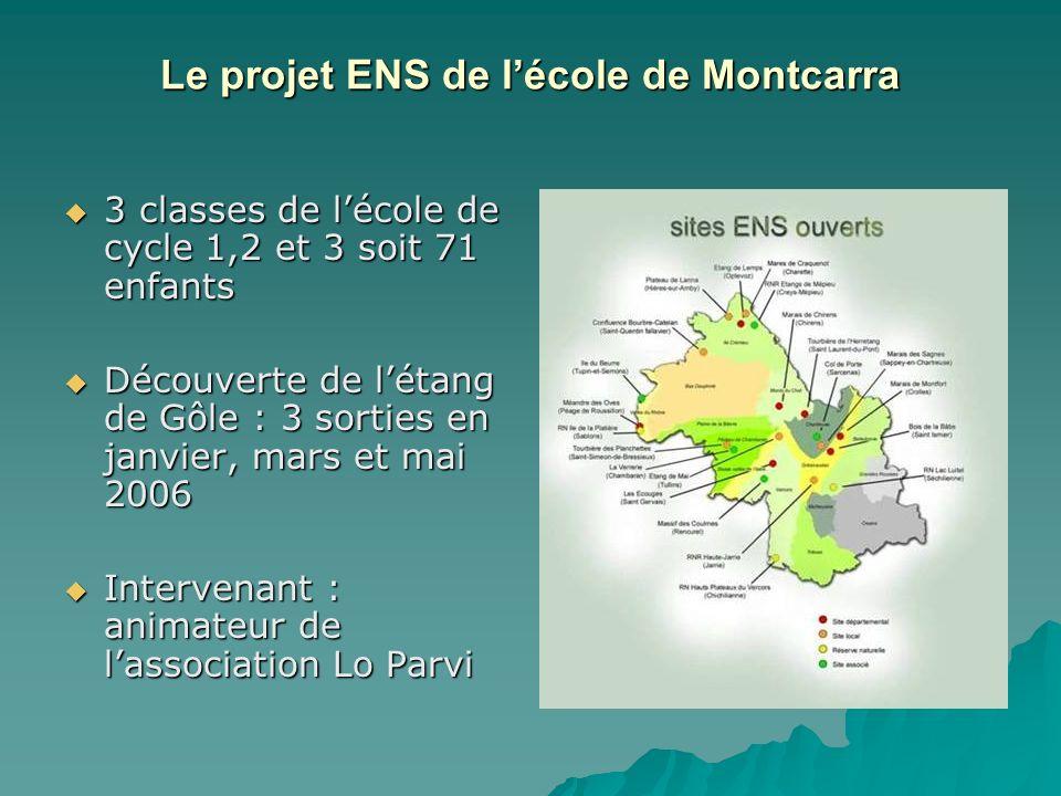 Le projet ENS de l'école de Montcarra
