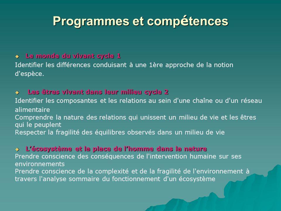 Programmes et compétences
