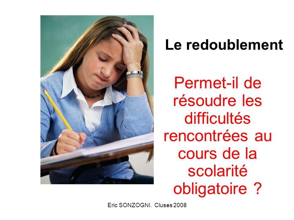 Le redoublement Permet-il de résoudre les difficultés rencontrées au cours de la scolarité obligatoire